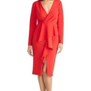 RACHEL Rachel Roy Ruffled Sheath Dress-Size S NWT